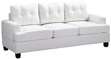 Glory Furniture G587A-S Living Room Sofa, White