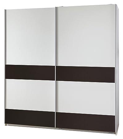 Wimex 051770 Schwebeturenschrank 135 x 198 x 64 cm, alpinweiß / Absetzungen lava