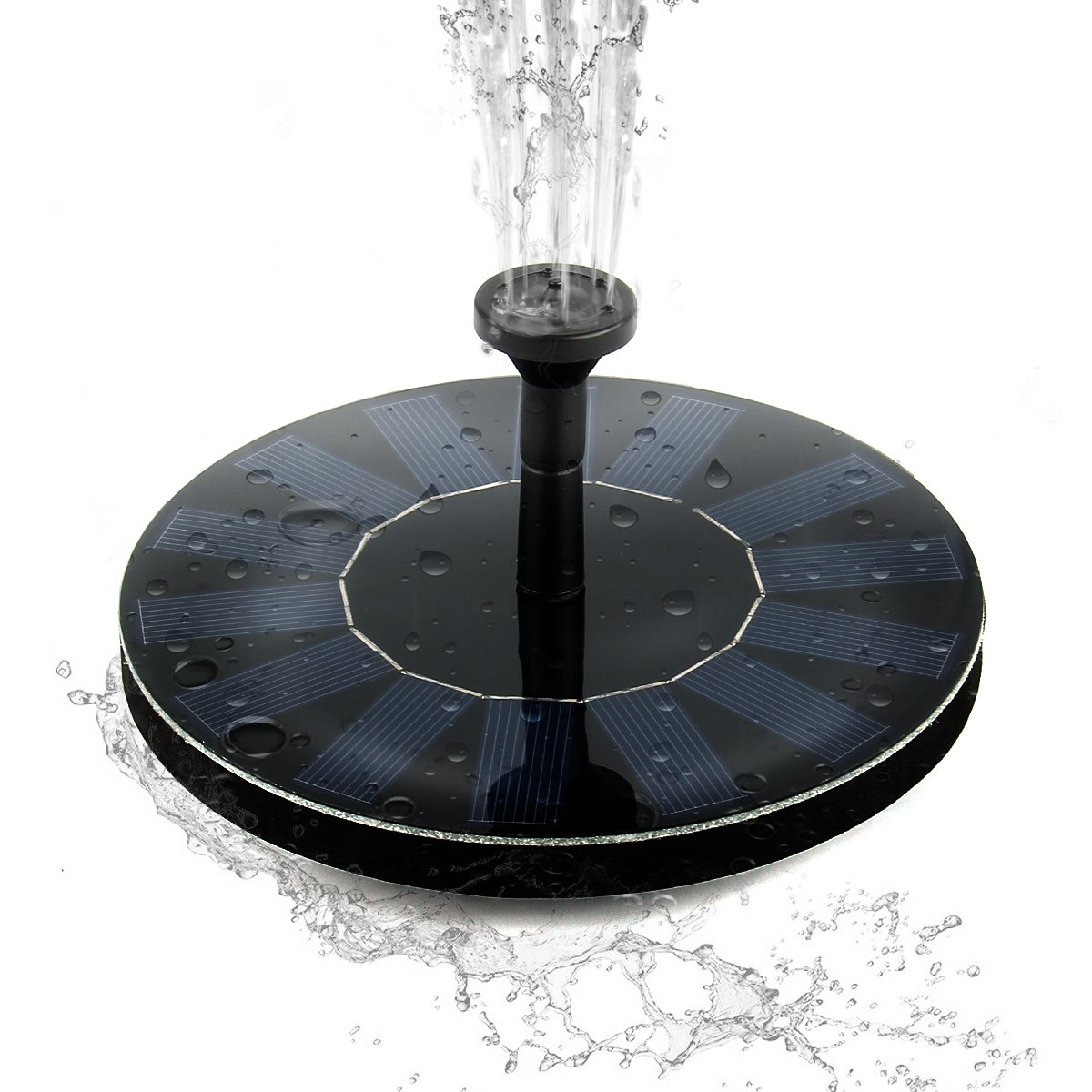 Solar Power Bird Bath Fountain,SOONHUA Solar Panel Water Floating Fountain Pump Kit for Bird Bath,Fish Tank,Small Pond,Garden Decoration