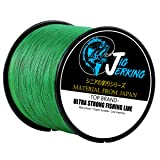 Jig Jerking SUPER POWER 4/8 Strands Braided Fishing Line 100% PE with ZERO Stretch & Abrasion Resistant (500M/547Yds 20Lb 30Lb 50Lb 80Lb 100Lb) - MUST HAVE ! (Color: Moss Green, Tamaño: 547Yds/30Lb(.26mm))