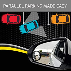 Eliminate and Improve Your Blind Spots Drive Safe Blind Spot Mirrors HD 2 Fixed Round Glass Blind Spot Mirror 2-Pack Ideal for Parallel Parking Ultimate Rear View Mirror for All Cars