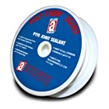 POLY-TEMP 28014 White Joint Sealant 100% PTFE Gasket Material Expanded UHF Adhesive Tape, 1/2