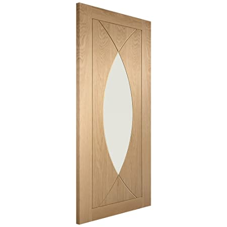 Pesaro Oak Clear Glazed Internal Doors 1981x686x35mm (78''x27'')