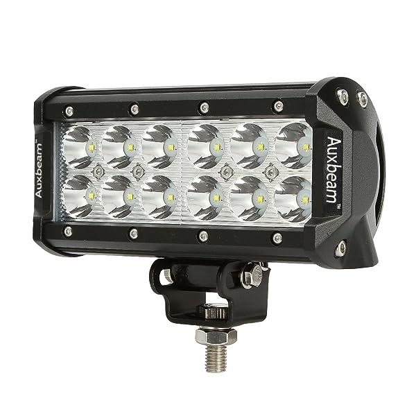 Barra ligera de iluminación LED 7 pulgadas para carro Auxbeam 30 grados de iluminación Cree para  trabajo pesado en vehículos SUV, UTV, Jeep y camión