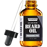 Fragrance Free Beard Oil & Leave In Conditioner, 100% Pure Natural for Groomed Beards, Mustaches, and Moisturized Skin 1 oz by Ranger Grooming Co by Leven Rose (Beard Oil) (Tamaño: Beard Oil)