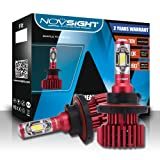 H13 Hi/Lo Beam LED Headlight Bulbs Conversion Kit, NOVSIGHT N6 Series Super Bright 10000LM 60W 6000K Cool White H13/9008 High/Low Beam/Fog Light Bulb, No Dark Spots or Shadowed Areas(2-Pack) (Tamaño: H13 Hi/Lo)