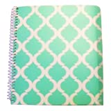 Carolina Pad Studio C College Ruled Poly Cover 5-Subject Spiral Notebook ~ Pattern Play (Green and White Design; 150 Sheets, 300 Pages) (Color: Green, White)