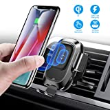 Baseus Wireless Car Charger Mount, 10w Automatic Clamping Air Vent Qi Fast Charging Car Phone Holder Compatible with iPhone Xs/Xs Max/XR/X, Galaxy Note 9/ S9/ S9+ & Other Qi-Enabled 4.7-6.5Inch (Color: Black)