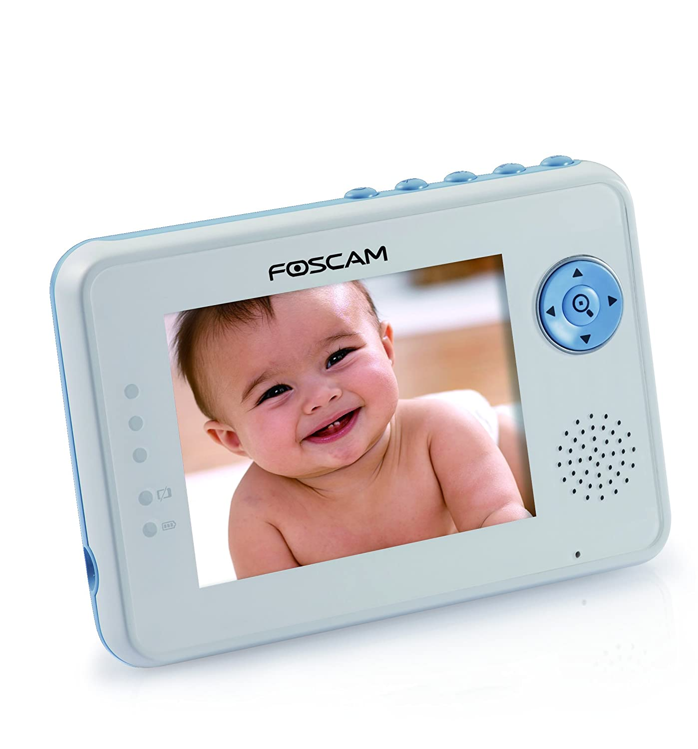 foscam fbm3502 digital video baby monitor auto motion tracking white blue ebay. Black Bedroom Furniture Sets. Home Design Ideas
