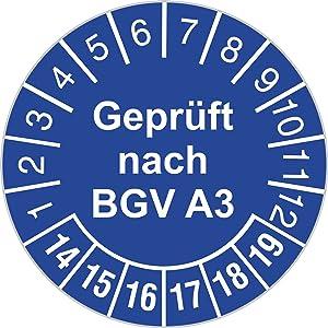Prüfplakette 30 mm Durchmesser selbstklebend Geprüft nach BGV A3 blau 20142019 1000 Stück  Kritiken und weitere Informationen