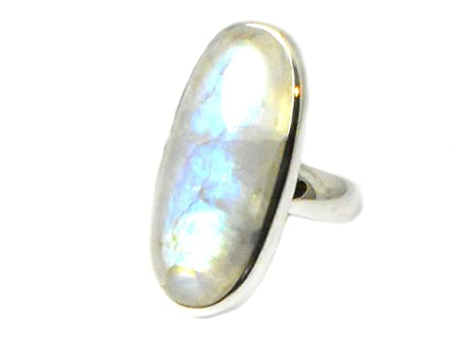 MOONSTONE Sterling Silver 925 Ring - (Size T) - (MSR2005162)