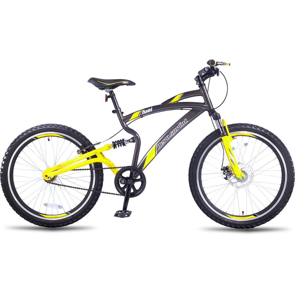Hero Sprint Fuel Single speed Adult Cycle (Grey/Yellow) By Amazon @ Rs.9,679