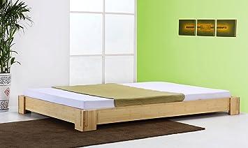 Bambusbett `Sumatra` natur - 20cm hoch - in vielen Größen / Möbel und Kolonialstilmöbel/ Variante: Größe: 200x200cm