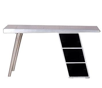 """'SIT-Möbel 2007-21scrivania """"Downtown, 150x 60x 75cm, con rivestimento in alluminio, argento"""