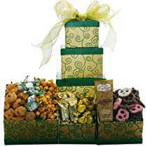 Sweet Sentiments OR Sweet Success Cookie Candy and Snacks Gift Tower