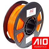 AIO Robotics AIOORANGE PLA 3D Printer Filament, 0.5 kg Spool, Dimensional Accuracy +/- 0.02 mm, 1.75 mm, Orange
