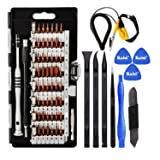 Kaisi 70 in 1 Precision Screwdriver Set Professional Electronics Repair Tool Kit with 56 Bits Magnetic Driver Kit, Anti Static Wrist Band, Spudgers for iPhone, Tablet, MacBook, PC, Xbox, Game Console (Color: Black, Tamaño: KS-2070B)