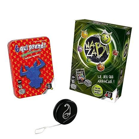 Lot de 2 jeux Gigamic : 6 Qui Prend + Wazabi + 1 yoyo Blumie