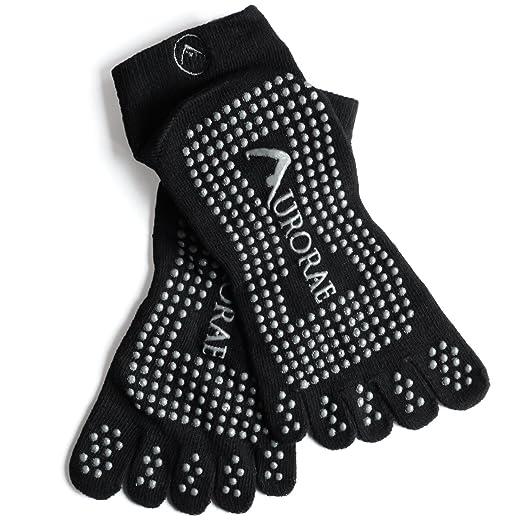 "Aurorae Yoga ""The Ultimate"" Non-Slip 5 Toe Sock"