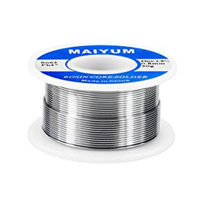 MAIYUM 63-37 Tin Lead Rosin core solder wire for electrical soldering (0.8mm 50g) (Color: 0.8mm 50g)
