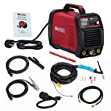 TIG-225, 220 Amp High Frequency TIG Torch With Stick Arc DC Welder, 115/230V Welding Machine, Can not weld Aluminum. (Color: Red, Tamaño: Full Size)