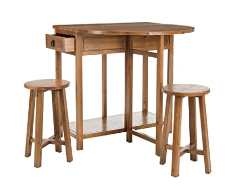 Safavieh American Home Collection Bronson Oak Finish Kitchen Table and Stool Set
