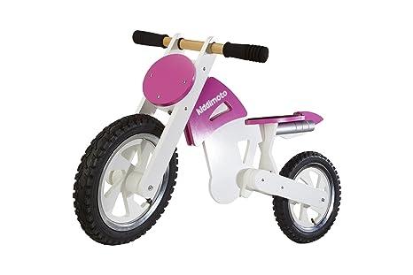 Kiddimoto - 916/207 - Vélo et Véhicule pour Enfant - Scrambler Pink White