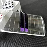2PCS New Arrival Crystal Glass Eye Lash Stand Pallet Holder for Eyelash Extensions, 3.1'' x 2'' x 0.5'' (Tamaño: 3.1'' x 2'' x 0.5'')