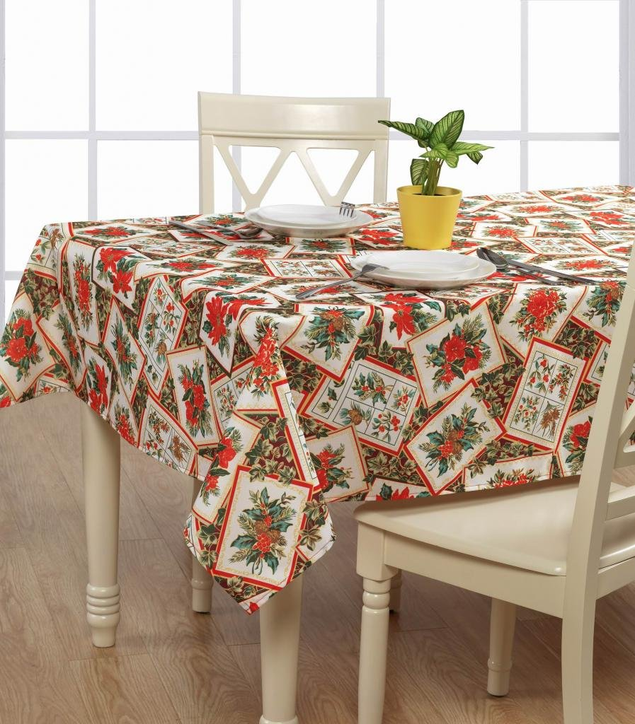 Poinsettia Table Covers Christmas Wikii