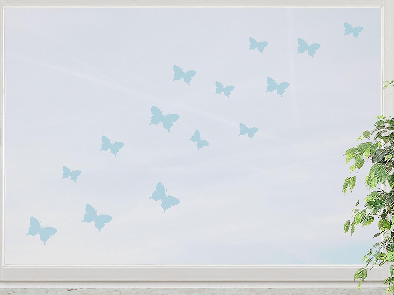 wandfabrik – Fenstersticker 15 Schmetterlinge 3-5cm Motiv (S2xs) – blue – 738 – (Hg) online bestellen
