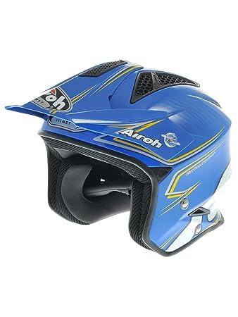 TRRSM18 airoh casque de moto-tRR-bleu
