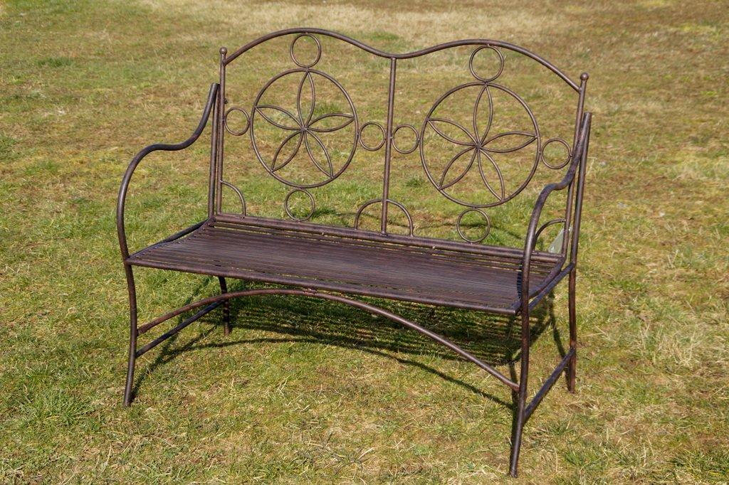 Exklusive Gartenbank Cielo, ergonomische Sitzfläche, Sitzbank in neuem Design und sehr stabiler Metallausführung günstig kaufen