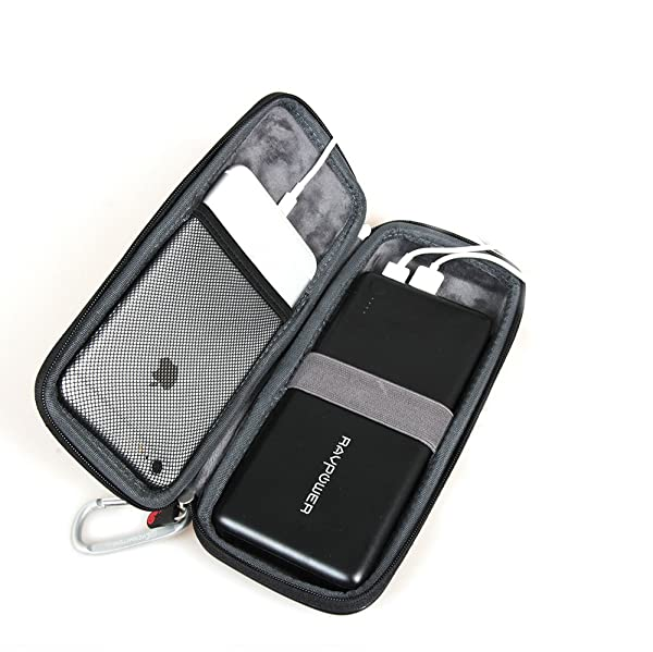 For Portable Charger RAVPower 26800mAh External Battery Pack Power Bank Hard Protective Travel Case Carrying Bag By Hermitshell (Color: for battery)