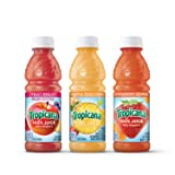 Tropicana 100% Juice 3-Flavor Fruit Blend Variety Pack, 10 Fl Oz, Bottles, (Pack of 24) (Tamaño: Pack of 24)