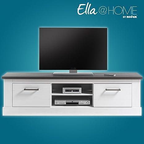 ROLLER TV-Lowboard MONTREAL - Pinie weiß-Wenge - 170 cm breit