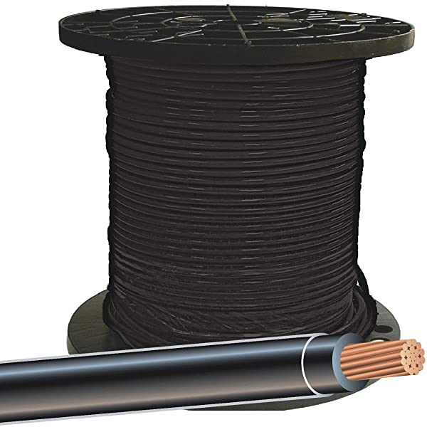 SOUTHWIRE Company 20488312 Building Wire,THHN,8 AWG,Black,500ft