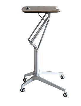 Ergoneer Design elegante altezza regolabile mobile Laptop Desk carrello | Premium Sit-gabbia di laminazione Laptop WorkPad corso comodino | Tabella di lusso multifunzionale Supporto per il tempo libero vita (legno Brown)