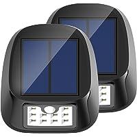 2-Pack Aptoyu 10-LED Waterproof Wireless Motion Sensor Solar Light