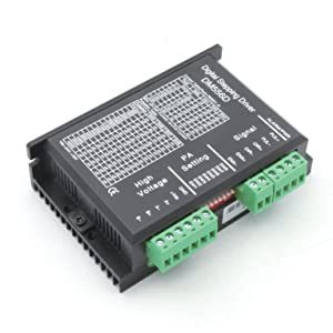 3Pcs DM556D Nema17 nema 23 Stepper Motor Driver Controller 24-50VDC 5.6A 256 Microstep Digital Driver Control for CNC Router Engraving Milling Machine