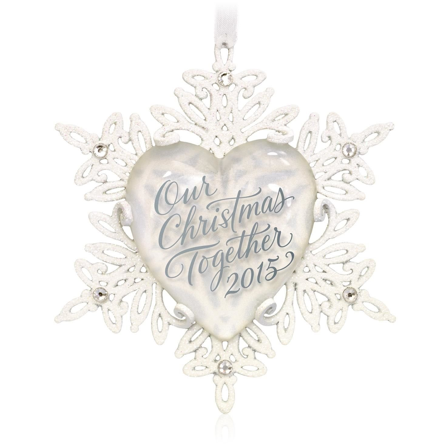 Our Christmas Together Snowflake Ornament 2015 Hallmark