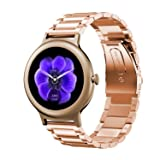 Oitom Premium Stainless Steel Watch Band Strap for LG WATCH STYLE Smart Fitness Watch(Rose Gold) (Color: Steel Rose Gold)