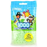 Perler Green Glow In The Dark Beads for Kids Crafts, 1000 pcs (Color: Green)