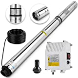 Happybuy Well Pump 3 HP 220V Submersible Well Pump 630ft Head 42GPM Stainless Steel Deep Well Pump for Industrial and Home Use (Tamaño: 3HP - AC 220V - 630ft Head - 42GPM)