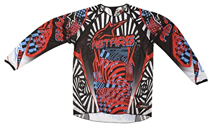 Alpinestars - Maillot cross - CHARGER JERSEY RED CYAN BLACK 2012 - Couleur : Rouge/Noir - Taille : 2XL