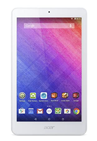 "Acer Iconia One 8 B1-820-131V Tablette Tactile 8"" Blanc (Intel Atom, SSD 16 Go, Android)"