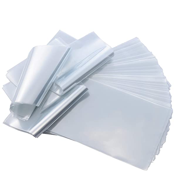 6x6 inch Odorless PVC Heat Shrink Wrap Bags 100 Guage 200 Pack Clear