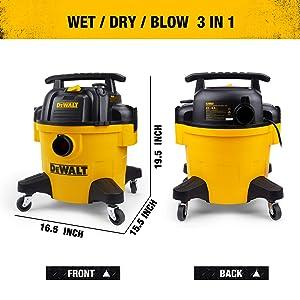 DeWALT 6 Gallon Poly Wet/Dry Vac (Color: Yellow)