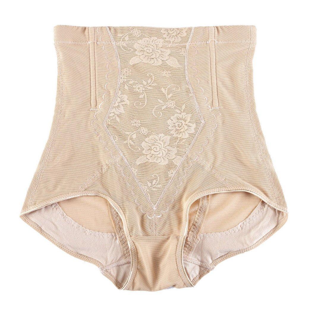 Tangda Miederhose Damen Shapewear Frauen Blumenmuster Bodyshaper mit Hoher Taille Bauchweg Taillenslip Größe L – Fleshcolor kaufen