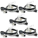 5×2Pin PTT MIC Covert Acoustic Tube Earpiece/Headset for Retevis RT1/H777/RT5 US