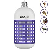 Hoont Powerful Electric Indoor Bug Zapper Bulb Trap Catcher Killer – Fits All Standard Bulb Sockets - Protects 500 Sq. Ft./Fly Killer, Mosquito Killer, Insect Killer [UPGRADED]
